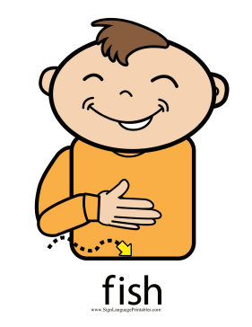 Baby sign language fish sign color for Www plenty of fish sign in