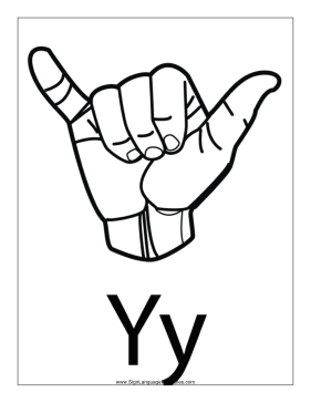 Letter Y Outline With Label