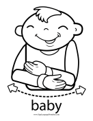 "Baby Sign Language ""Baby"" sign (outline)"