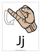 Letter J (color, with label)