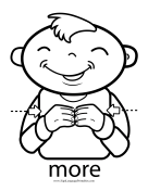 "Baby Sign Language ""More"" sign (outline)"