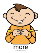 "Baby Sign Language ""More"" sign (color)"