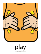"Baby Sign Language ""Play"" sign (color)"
