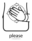 "Baby Sign Language ""Please"" sign (outline)"