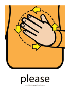 "Baby Sign Language ""Please"" sign (color)"